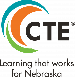 CTE logo. Learning that works for Nebraska.