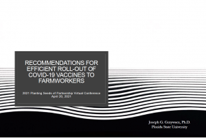 Recommendations for Efficient Roll-Out of COVID-19 Vaccines to Farmworkers